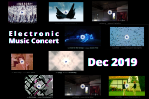 Electronic Music Concert title page from Dec 2019