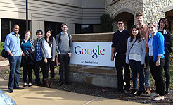 Photo of students at Google headquarters.
