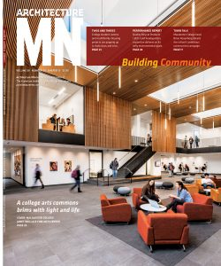 Macalester's Art Commons on the cover of Architecture MN