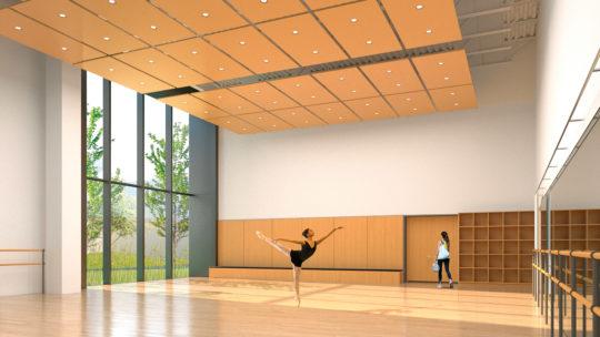 Macalester's dance studio