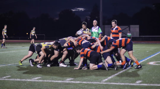 Macalester men's rugby.