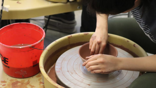 Image of pottery being made