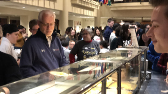 Image of serving line at midnight breakfast