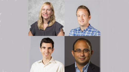 Composite of 4 newly tenured professors