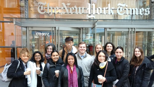 Mac Connect Spring 2019 trip visiting the New York Times headquarters.
