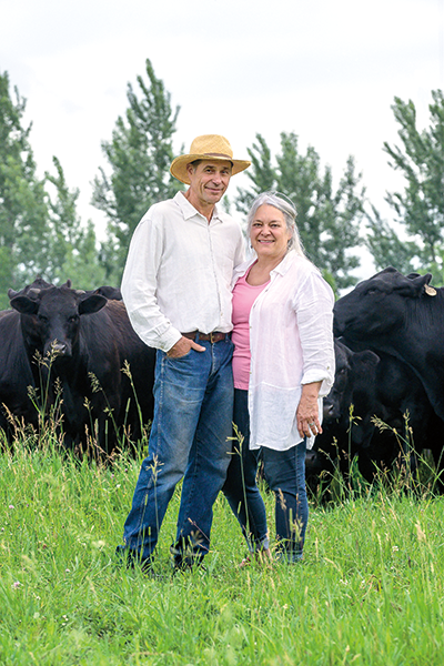 Audrey Arner '73 and Richard Handeen '73 have grown Moonstone Farm into a biologically diverse polyculture of pastures and hayfields–and a gathering place for a community, including many Mac friends and family.