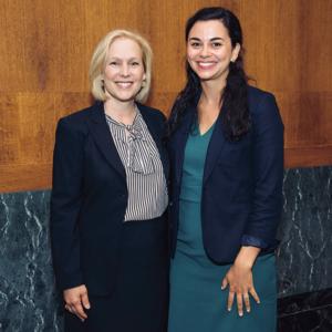 Emma Mondadori '09 with Senator Kirsten Gillebrand
