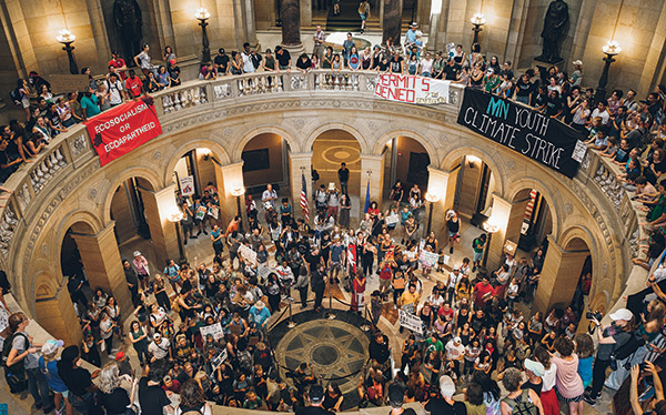 Photo of a crowd in the Minnesota State Capitol