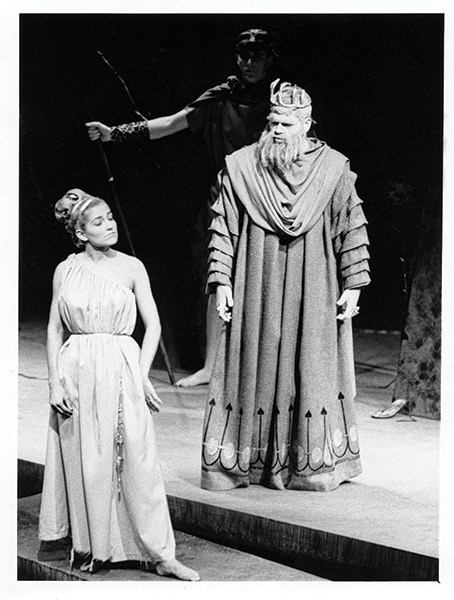"""Trojan Women,"" the first production in the Janet Wallace Fine Arts Center (1965)"