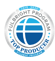 Top Fulbright producer badge