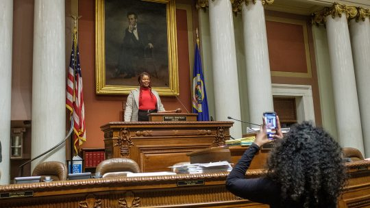 Ayana Smith-Kooiman '22 at the Capitol