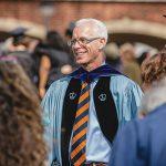 President Rosenberg in graduation robes