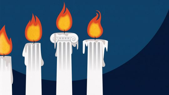 Illustration of burning candles