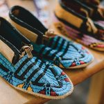 Photo of blue beaded moccasisn