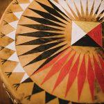 Painted drumhead
