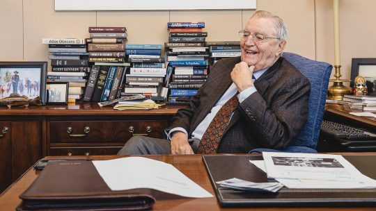 Walter Mondale in his office