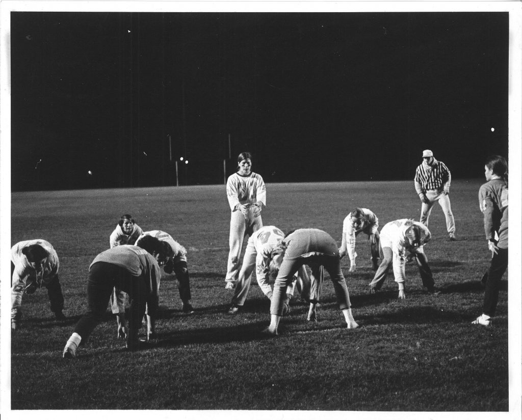 Game Day: October, 1969<br>Help identify the coaches and team members. <br>Submitted by: Jane McKinley Sweet