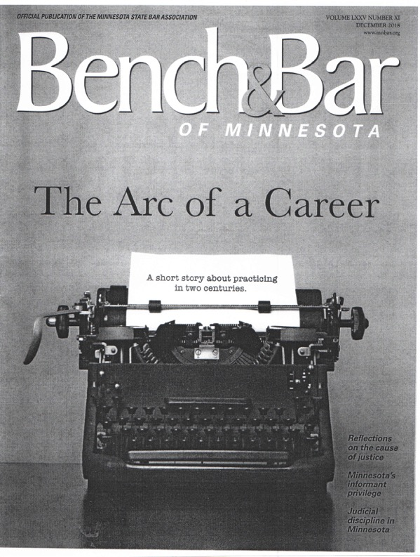 Bench and Bar Publication. <br> Submitted by: Stan Keillor