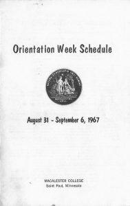 First-year Orientation Week Schedule