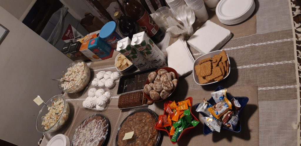 Traditional New Year's and Christmas food at the Russian House holiday party