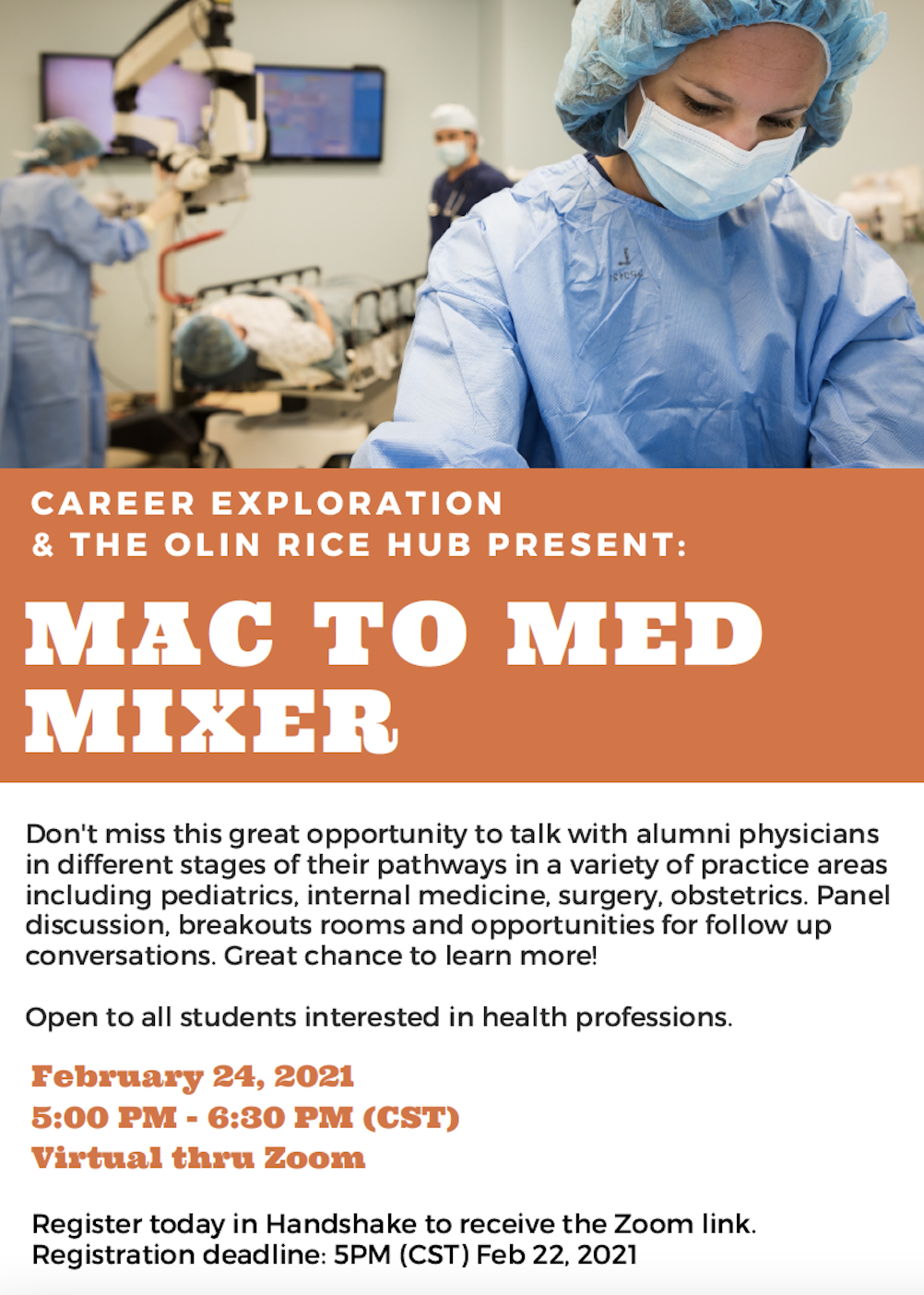 Scan of Mac to Med Mixer poster.