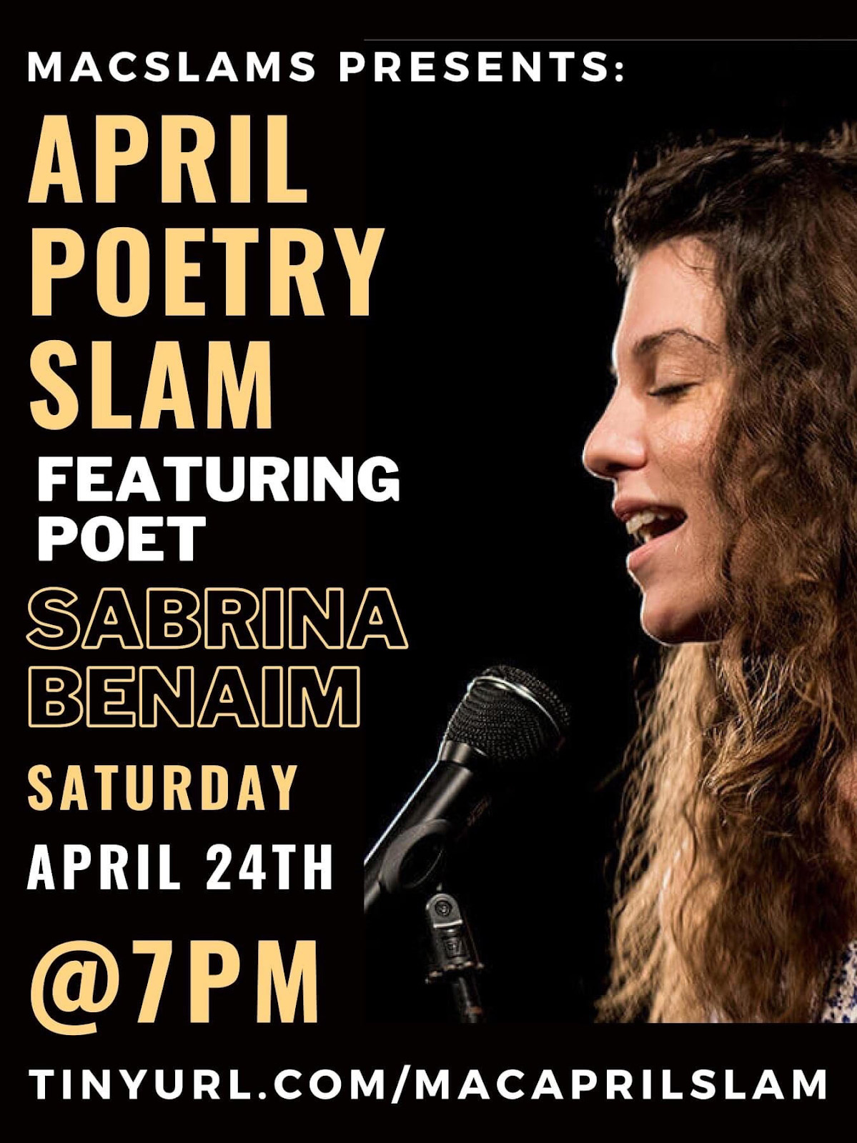 Scan of the April Poetry Slam poster.