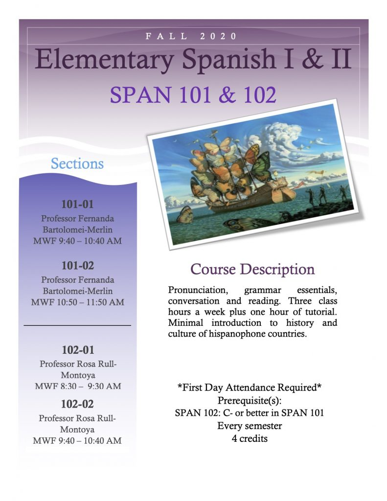 Flyer for SPAN 101 and 102
