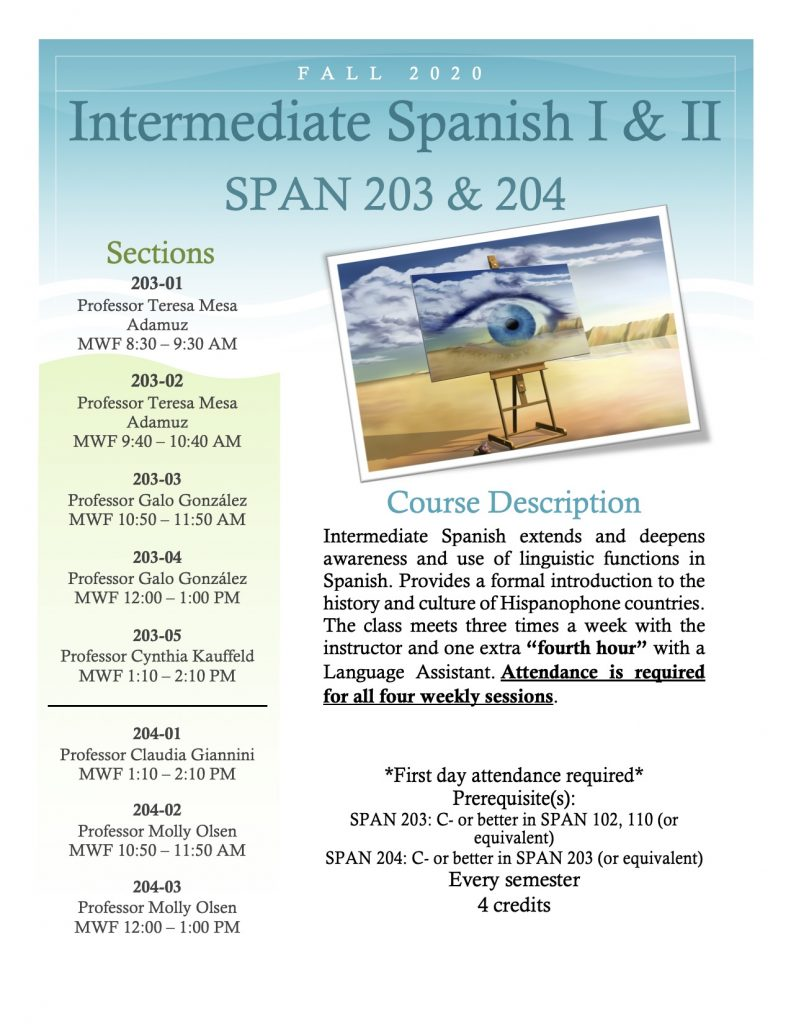 Flyer for SPAN 203 and 204