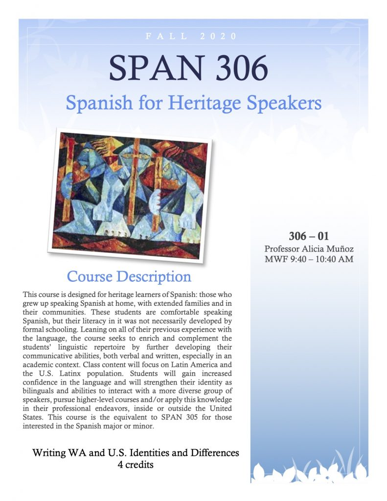 Flyer for SPAN 306