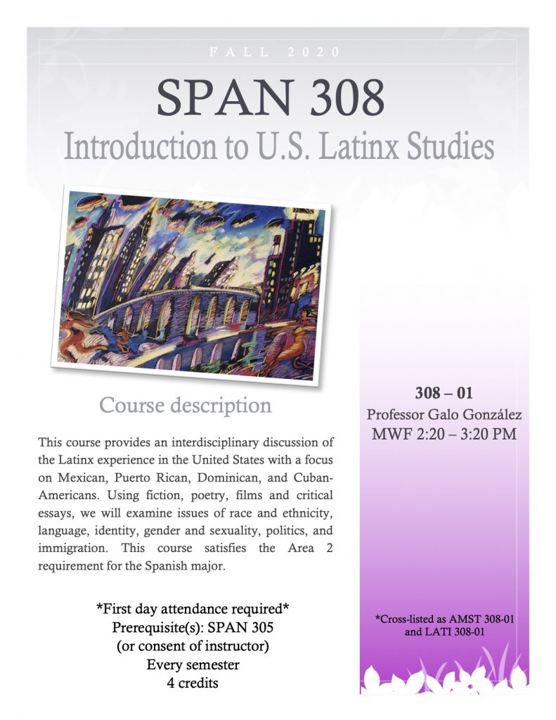 Flyer for SPAN 308