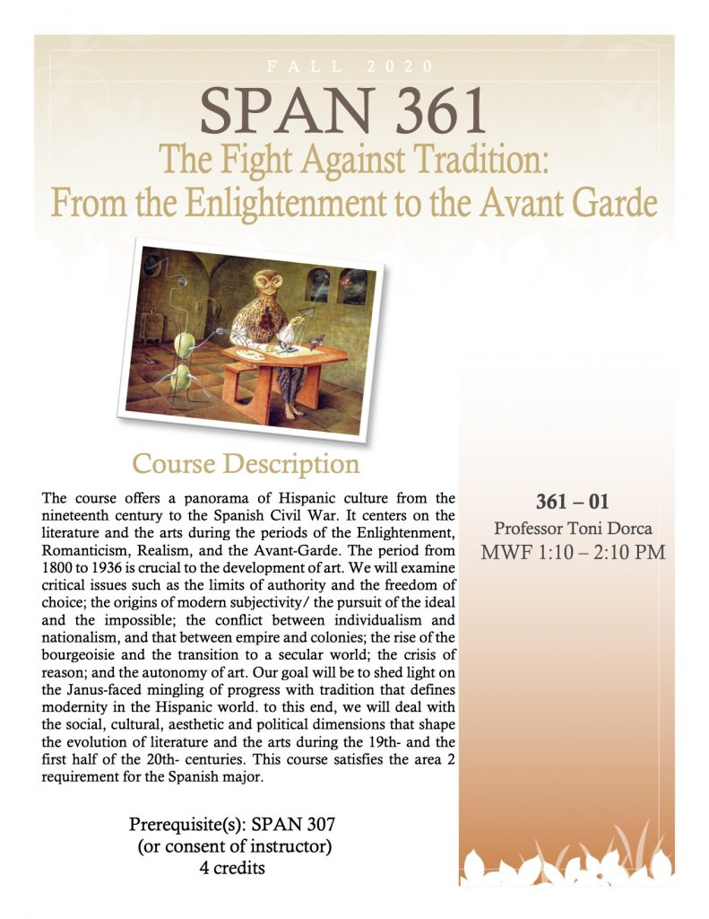 Flyer for SPAN 361