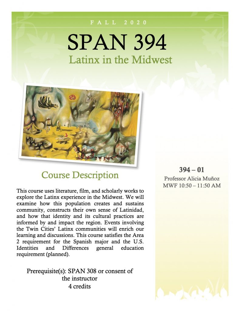 Flyer for SPAN 394