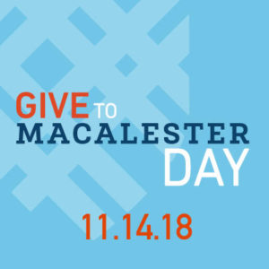 Give to Macalester Day 2018 Twitter Profile Image