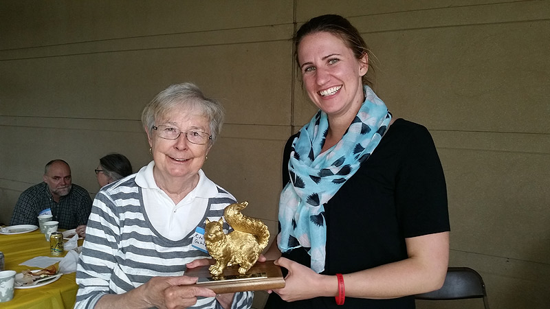 Class agent Rita winning the Golden Squirrel award