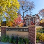 Sustainable landscaping and Macalester sign
