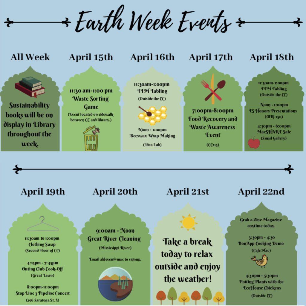 Earth Week Event Schedule
