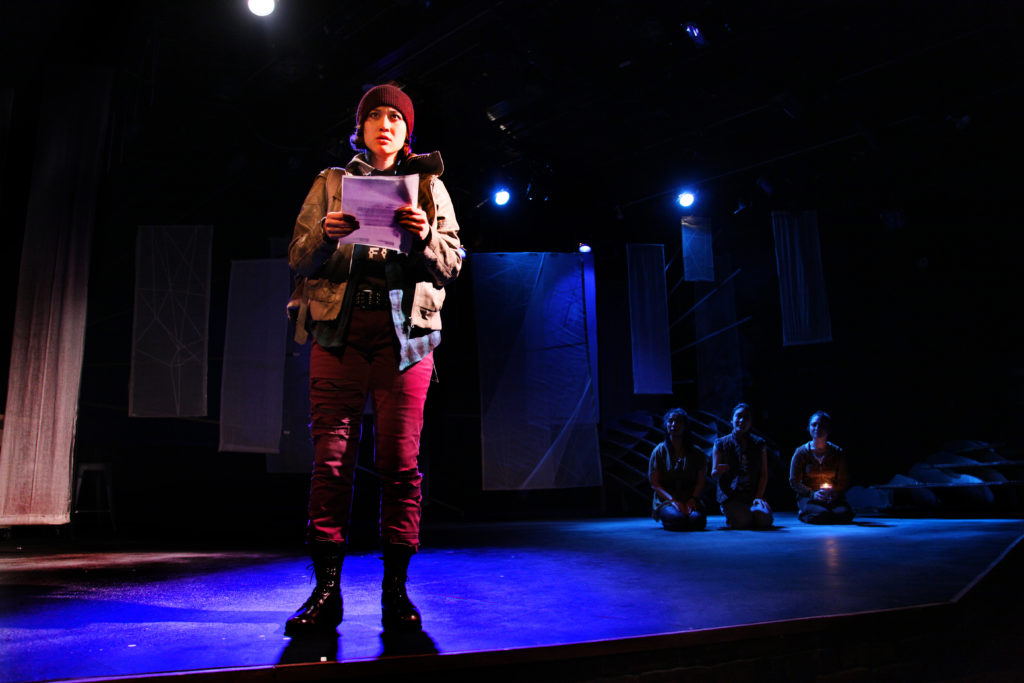 """Purple Cloud"" by MU Performing Arts, written by Jessica Huang, directed by Randy Reyes. Performed at Mixed Blood Theatre, downtown Minneapolis (December 4-20, 2015)"