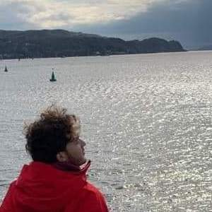 Adam Clark looking out at the water