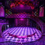 Completed Rocky Horror set on stage