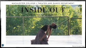 Inside Out publicity poster depicting a dancer performing on an outdoor stage