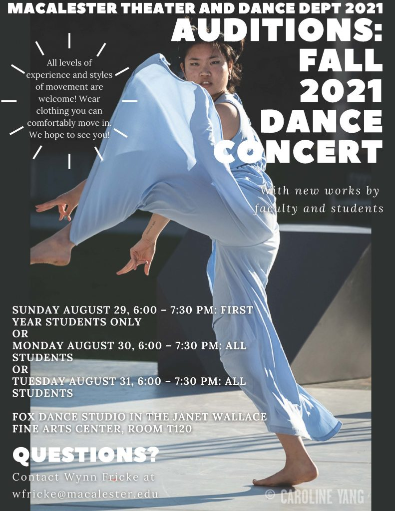 Dance Auditions, Aug 29-31