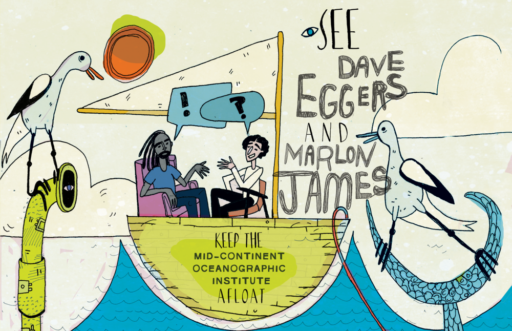 Marlon James and Dave Eggers in Conversation Event Poster