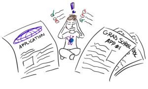Grad school application graphic