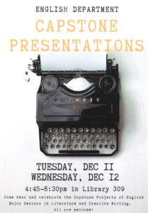 Capstone Presentations 12/11, 12/12
