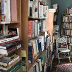 bookshelves in APBP's offices