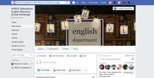 banner photo from Facebook of the Maclaester English Resource Group Exchange