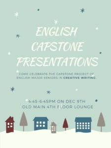 Event flyer: English Capstone Presentations