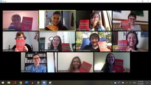 Students gather via Zoom with Professor Michael Prior