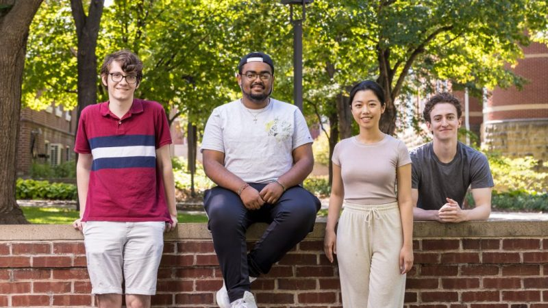 Four Macalester students